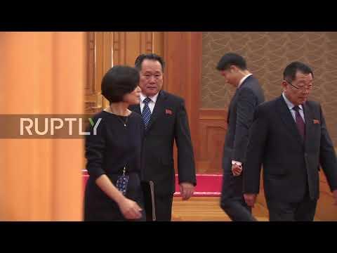South Korea: Pres. Moon Jae-in meets with Kim Jong Un's sister