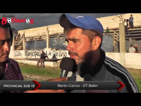 Provincial Sub 15: Martín Carrizo - DT Belén