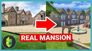 Building a REAL MANSION in The Sims (Sims 4 House Build)
