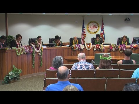Hawaii County Council Organizes (Dec. 5, 2016)
