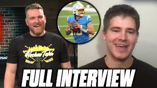 Pat McAfee Asks Justin Herbert About His Rookie Season, Tyrod Taylor's Lung, & More