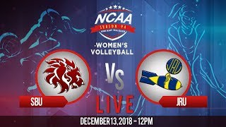 NCAA 94 Women's Volleyball: SBU vs. JRU | December 13, 2018