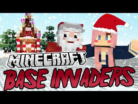 Christmas Secrets! | Minecraft Base Invaders Challenge
