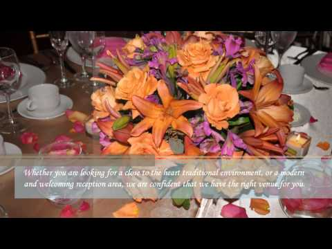 Orange and Pink Wedding Flowers @ The European Crystal Banquet by M & P Floral and Event Production