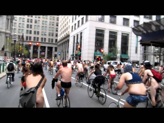 Philly Naked Bike Ride 2012 - City Hall