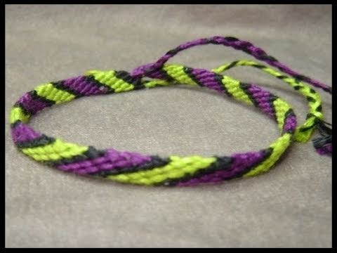 Friendship Bracelet Tutorial - Beginner - The Candystripe ...