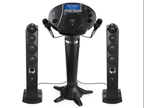 Feel Professional Singer with Singing Machine iSM1030BT Bluetooth Karaoke Pedestal