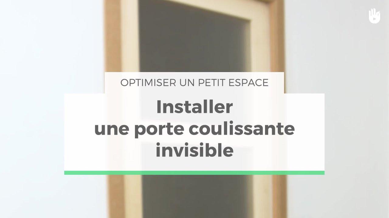 poser une porte coulissante invisible optimiser un petit espace