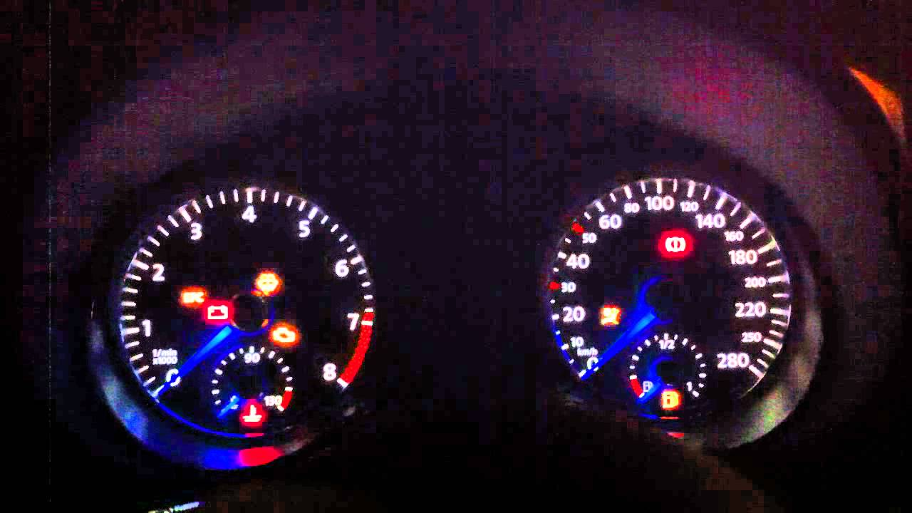 VW Polo 6R 1.2 TSI DSG with GTI speedometer Sweaptest/Staging - YouTube