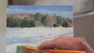 Art Lesson #15 - Intro to Painting - Class 6 - Hay field, Vermont