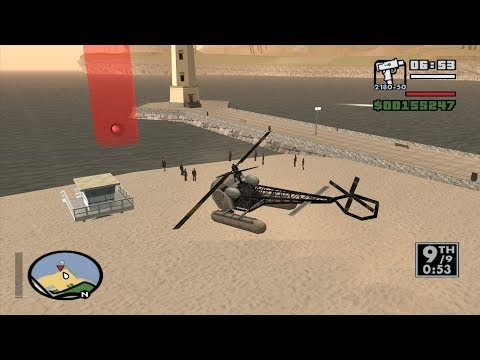 GTA San Andreas - Santa Maria Beach: Beat The Cock! With A SeaSparrow (Triathlon Race 1)