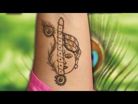 Shree Krishna Tattoo /Mehndi design/Tutorial/Janmashtmi Special must watch thumbnail
