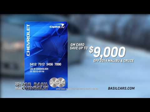 Joe Basil Chevrolet GM Card Bonus!