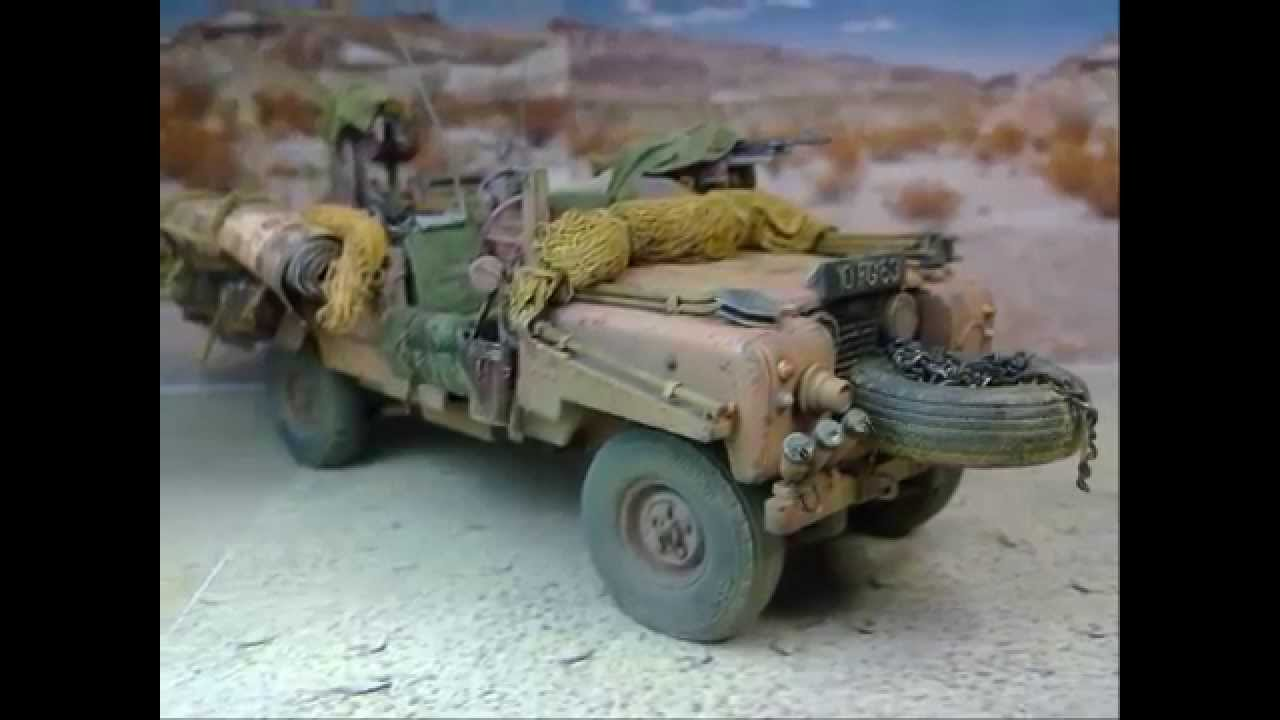 New Land Rover Youtube >> S.A.S. Land Rover Pink Panther Tamiya model kit 1/35 - YouTube