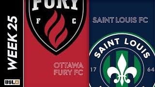Ottawa Fury FC vs. Saint Louis FC: August 24th, 2019