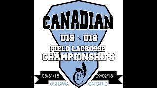 Canadian Field Nationals - U15 Gold Medal Game: Ontario vs British Columbia; Sept 2, 1pm