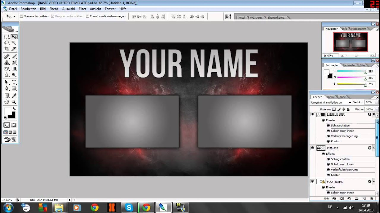 Free outro template new doovi for Free outro template