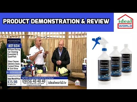 Williams waterless wash and wax test and review