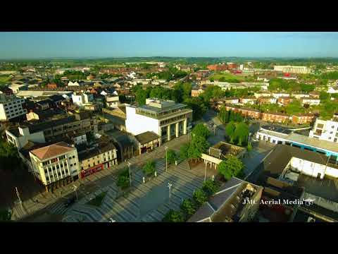 Dundalk, Ireland 4K Drone Aerial View