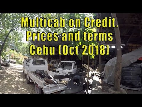 Multicab on Credit, Prices and terms Cebu (Oct 2018)