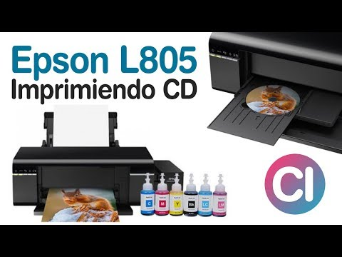 Impresora Epson L805 Imprimiendo CD / DVD - L805 Sistema Continuo