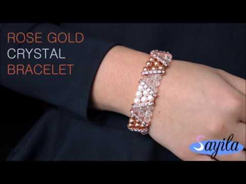 Making jewelry - Rose gold Crystal Bracelet (DIY tutorial by Sayila)