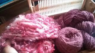 Weaving: Lock spun yarn