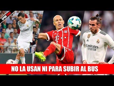 7 Futbolistas que NO USAN LA DERECHA ni para subir al BUS