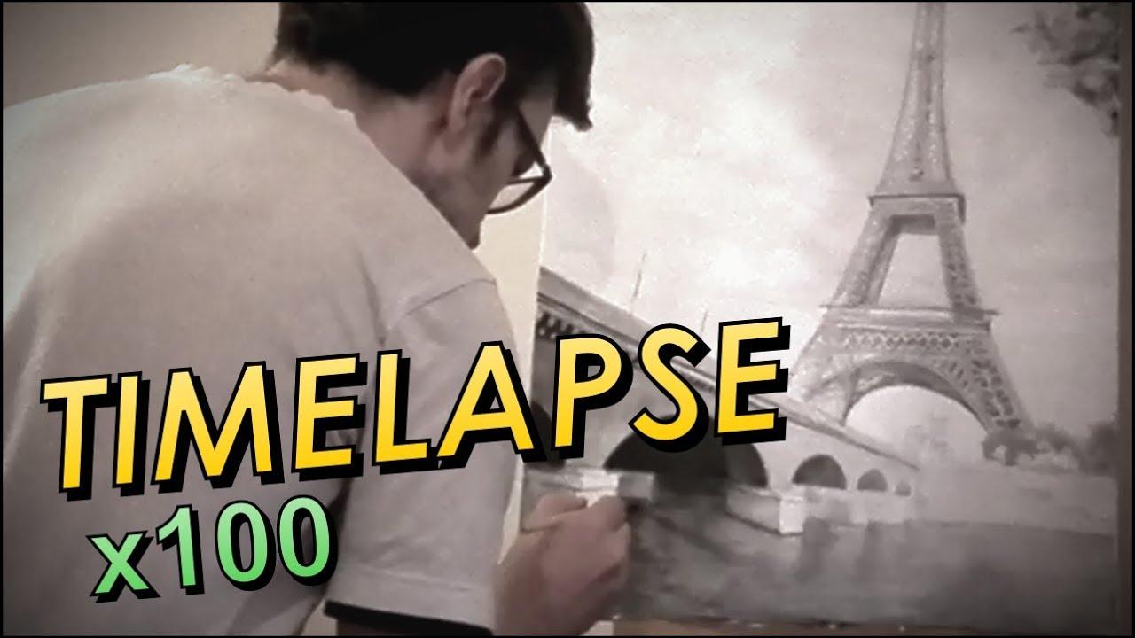Obraz Paryż timeapse