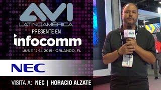 Visita a NEC durante  InfoComm Orlando 2019