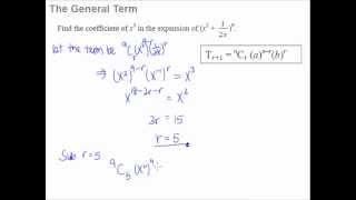5 Binomial Theorem - The General Term formula