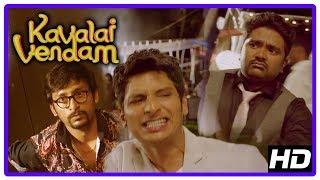 Kavalai Vendam Movie Scenes | Jiiva's condition to divorce Kajal Aggarwal | Bala Saravanan