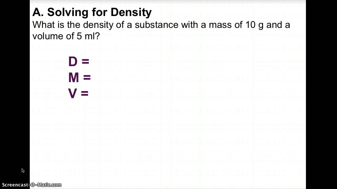 Density Mass And Volume Solutions Examples Lessons Worksheets Games Activities