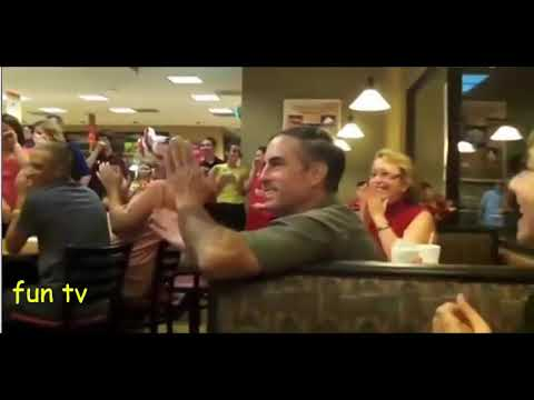Soldier, Home Early, Surprises His Wife In Chick fil A