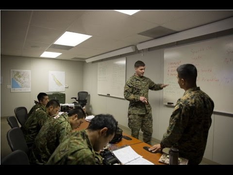 Japanese soldiers improve their skills in calling in fire support assets