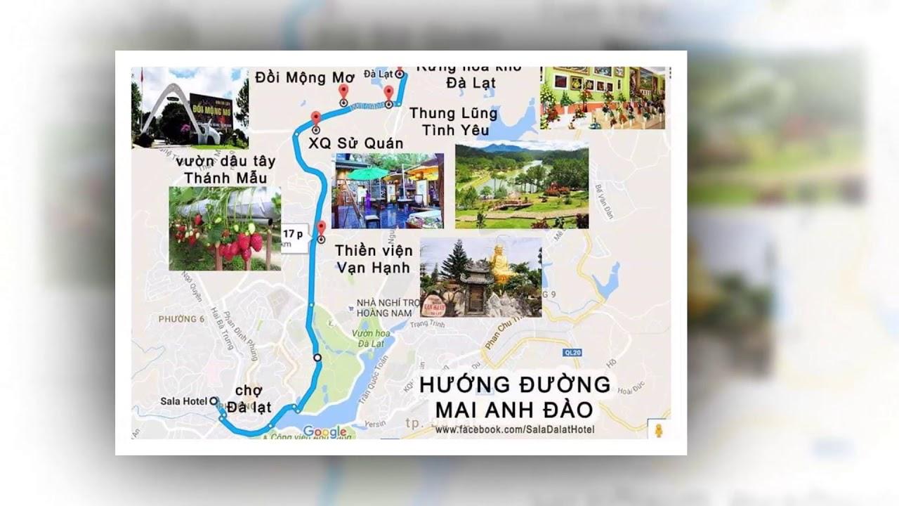 Bản đồ du lịch đà lạt – bản đồ địa điểm du lịch đà lạt