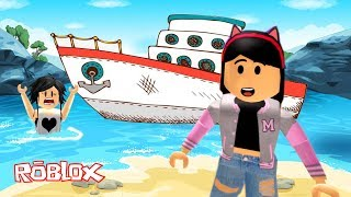 ROBLOX-FLEEING THE SHIP WITH MY MOTHER (Escape the Cruise Ship Obby) Jeux Luluca