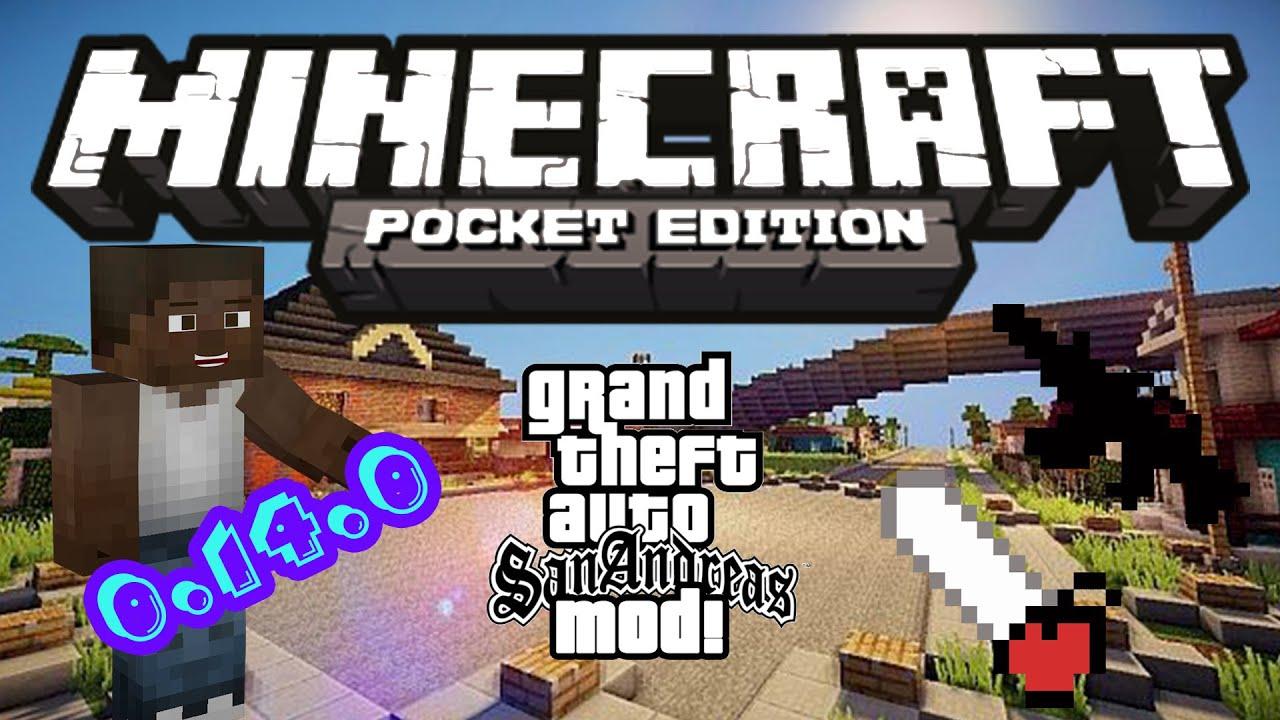 CÙNG PHÁ THÀNH PHỐ NÀO | MOD GTA SAN ANDREAS | Minecraft PE 0.14.0
