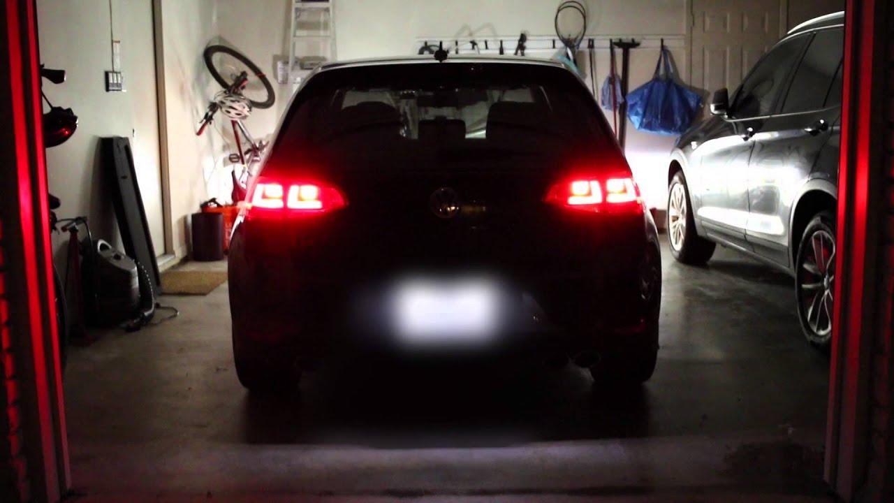 Mk7 Golf R >> VW MK7 Golf R LED Tail light comparison - YouTube
