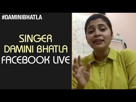 Damini Bhatla FACEBOOK Live Video | Tollywood SINGER Damini Bhatla INTERVIEW | Damini Bhatla