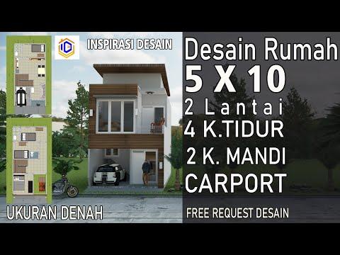 desain rumah 5x10 2 kamar