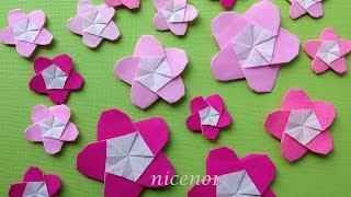 折り紙 梅の花 折り方 Origami Flower plum tutorial(niceno1) thumbnail