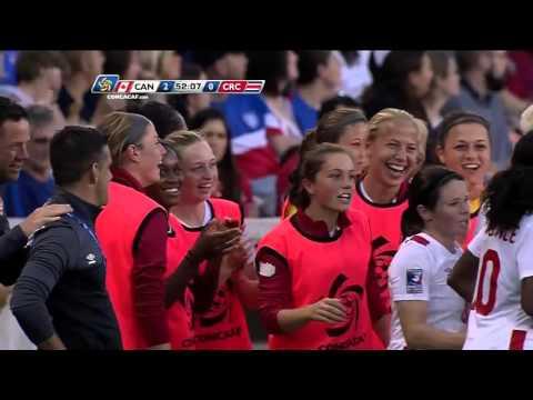 Goal CAN - No. 12 Christine SINCLAIR @sincy12 | @CanadaSoccerEN @Fedefutbol_CR #CWOQ2016