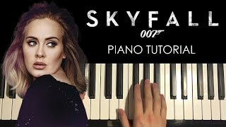 HOW TO PLAY - Adele - Skyfall (Piano Tutorial Lesson)