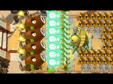 Plants vs Zombies 2 - Coconut Cannon vs Electric Tea vs 999 Zombies