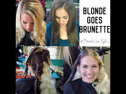 Blonde Goes Brunette| How to FILL| Redken ColorGels & Olaplex Treatment