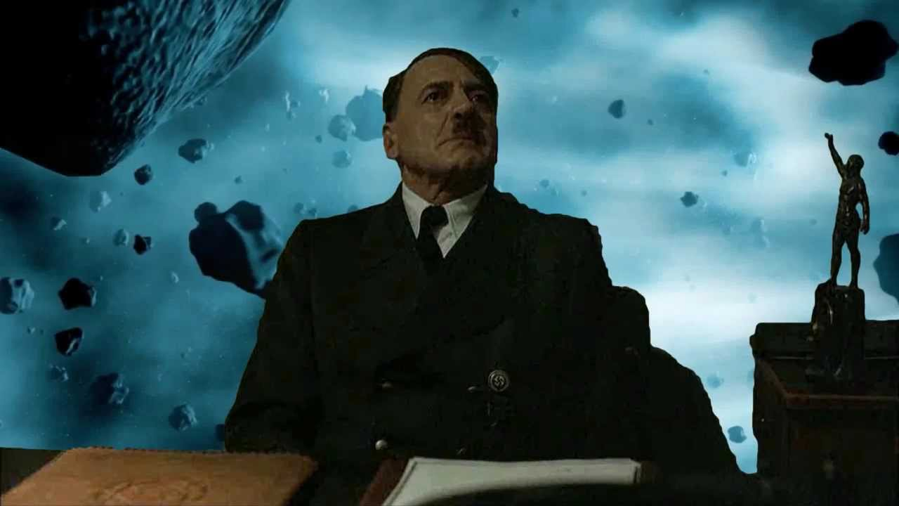 Hitler is informed he's in an asteroid field