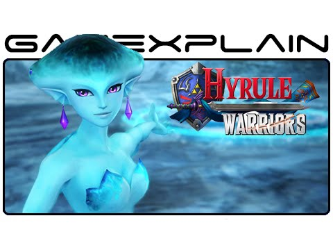 Hyrule Warriors Screenshots: Princess Ruto, Darunia, Sheik, Death Mountain, Lake Hylia (Wii U) - GameXplain  - PLvAzjMy_aI -