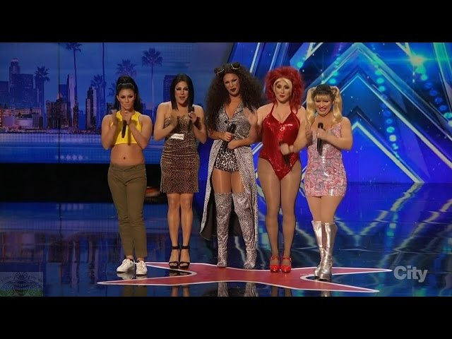 Americas Got Talent 2016 The Spice Gurlz Lipsyncing Group Full Audition Clip S11E01