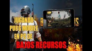 JUEGO PUBG MOBILE EN PC DE BAJOS RECURSOS